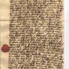 The letter written by Utraquist priest Tobias Belsky from Mlada Boleslav to Matous Konecny.